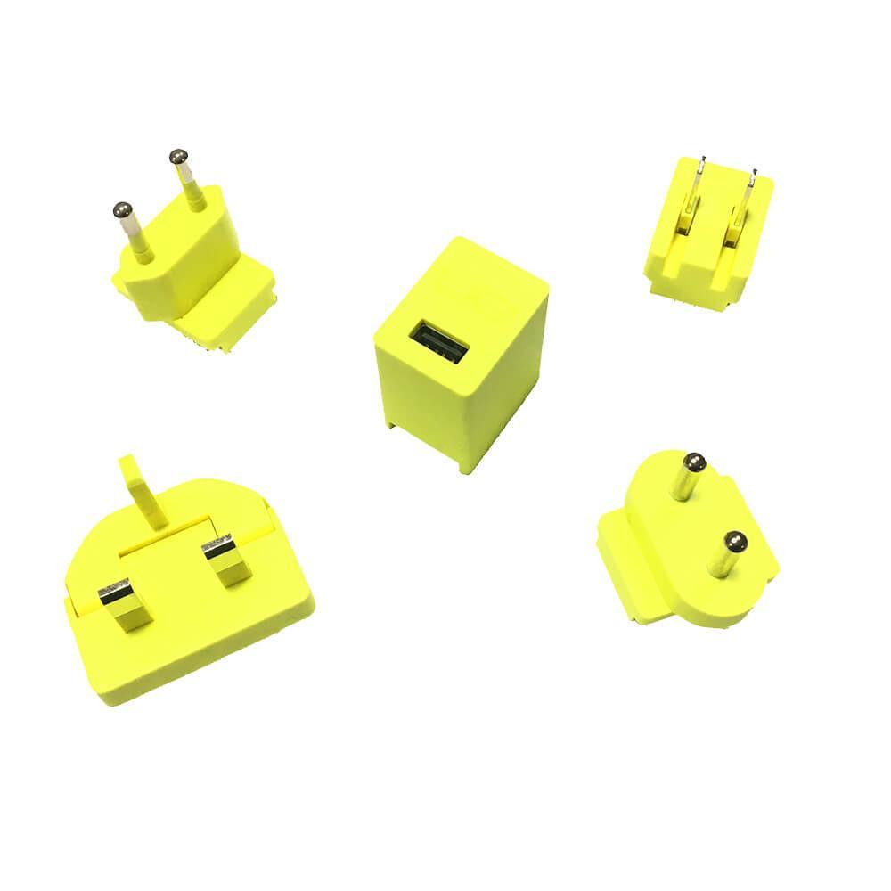 Ultimate Ears MegaBoom Wall Charger — захранване за ел. мрежа 2A с USB изход и адаптери за цял свят за UE MegaBoom и други мобилни устройства (жълт) (bulk) - 1