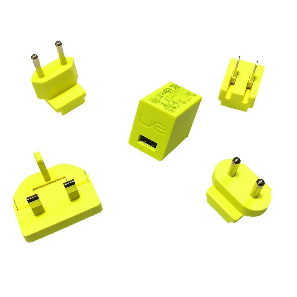 Ultimate Ears MegaBoom Wall Charger — захранване за ел. мрежа 2A с USB изход и адаптери за цял свят за UE MegaBoom и други мобилни устройства (жълт) (bulk) - 2