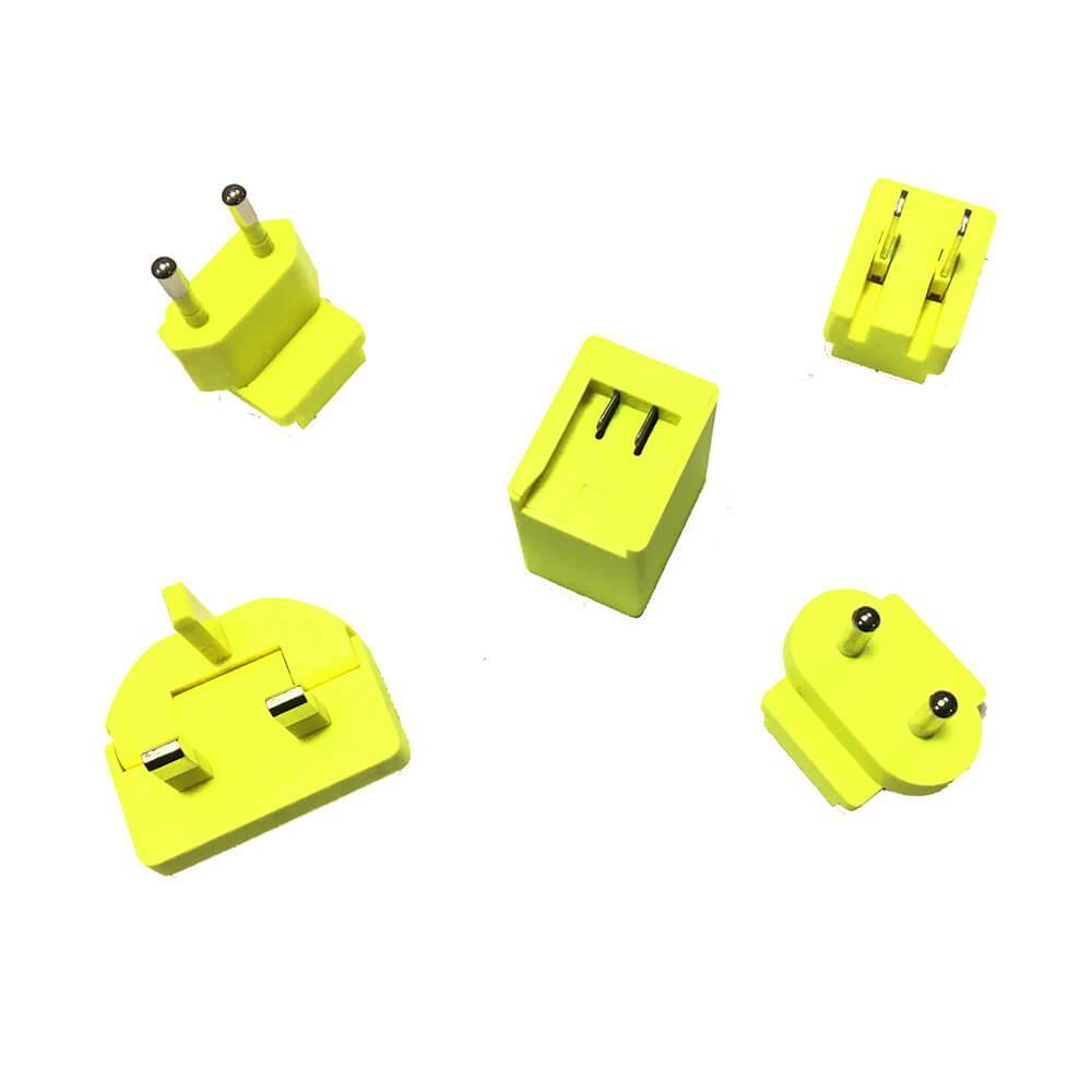 Ultimate Ears MegaBoom Wall Charger — захранване за ел. мрежа 2A с USB изход и адаптери за цял свят за UE MegaBoom и други мобилни устройства (жълт) (bulk) - 3