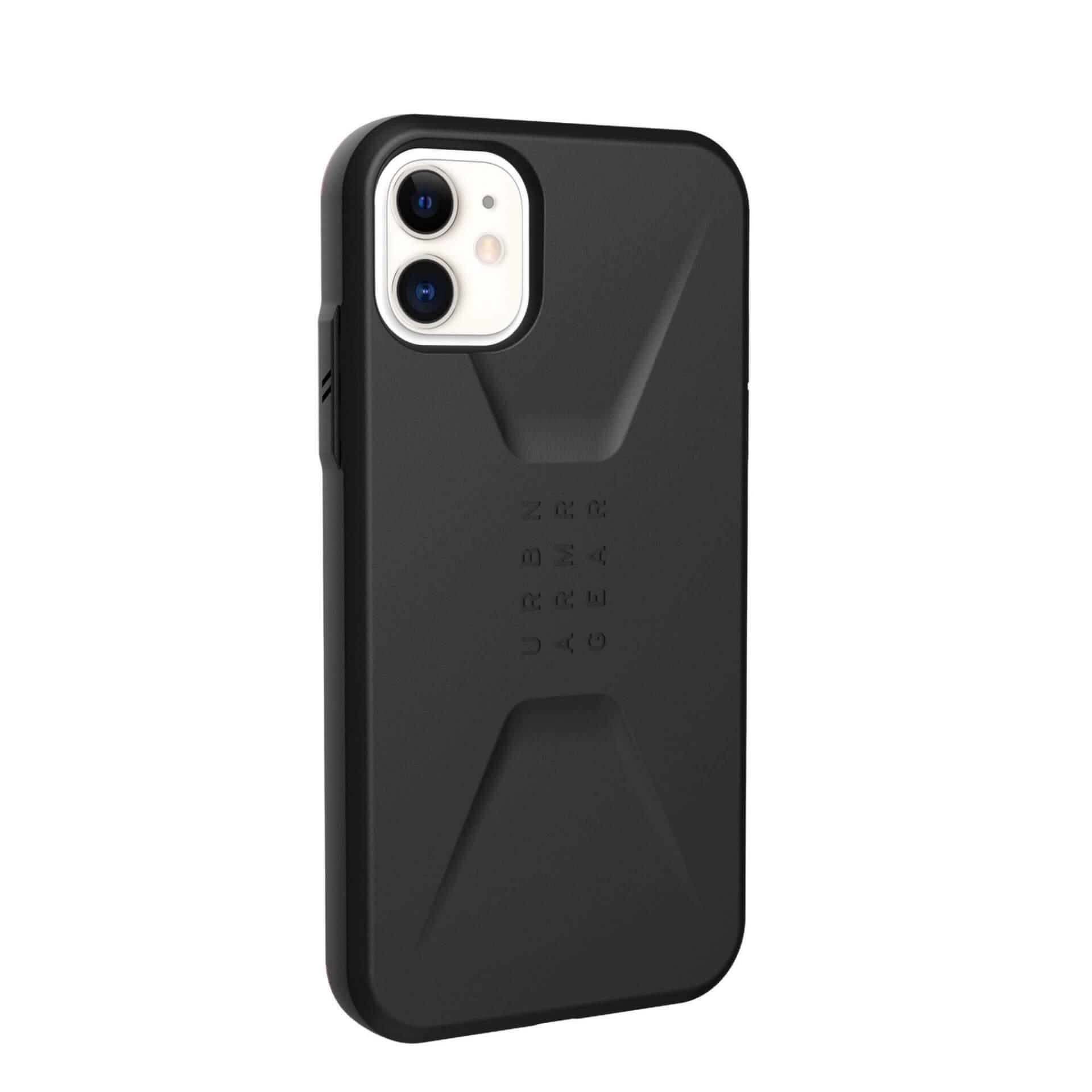 Urban Armor Gear Civilian — удароустойчив хибриден кейс за iPhone 11 (черен) - 4