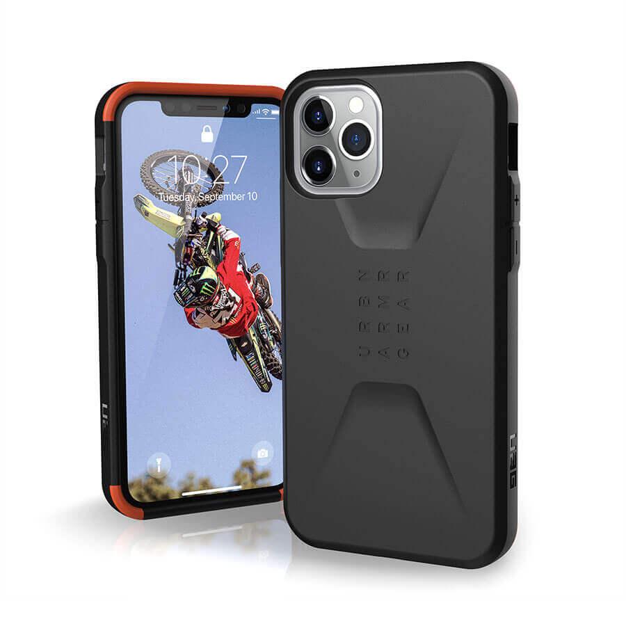 Urban Armor Gear Civilian — удароустойчив хибриден кейс за iPhone 11 Pro (черен) - 1