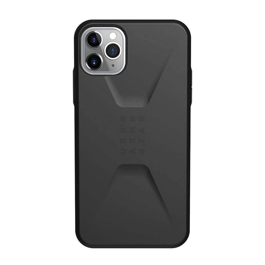 Urban Armor Gear Civilian — удароустойчив хибриден кейс за iPhone 11 Pro Max (черен) - 2