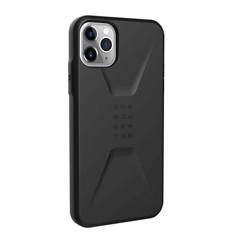 Urban Armor Gear Civilian — удароустойчив хибриден кейс за iPhone 11 Pro Max (черен) - 3