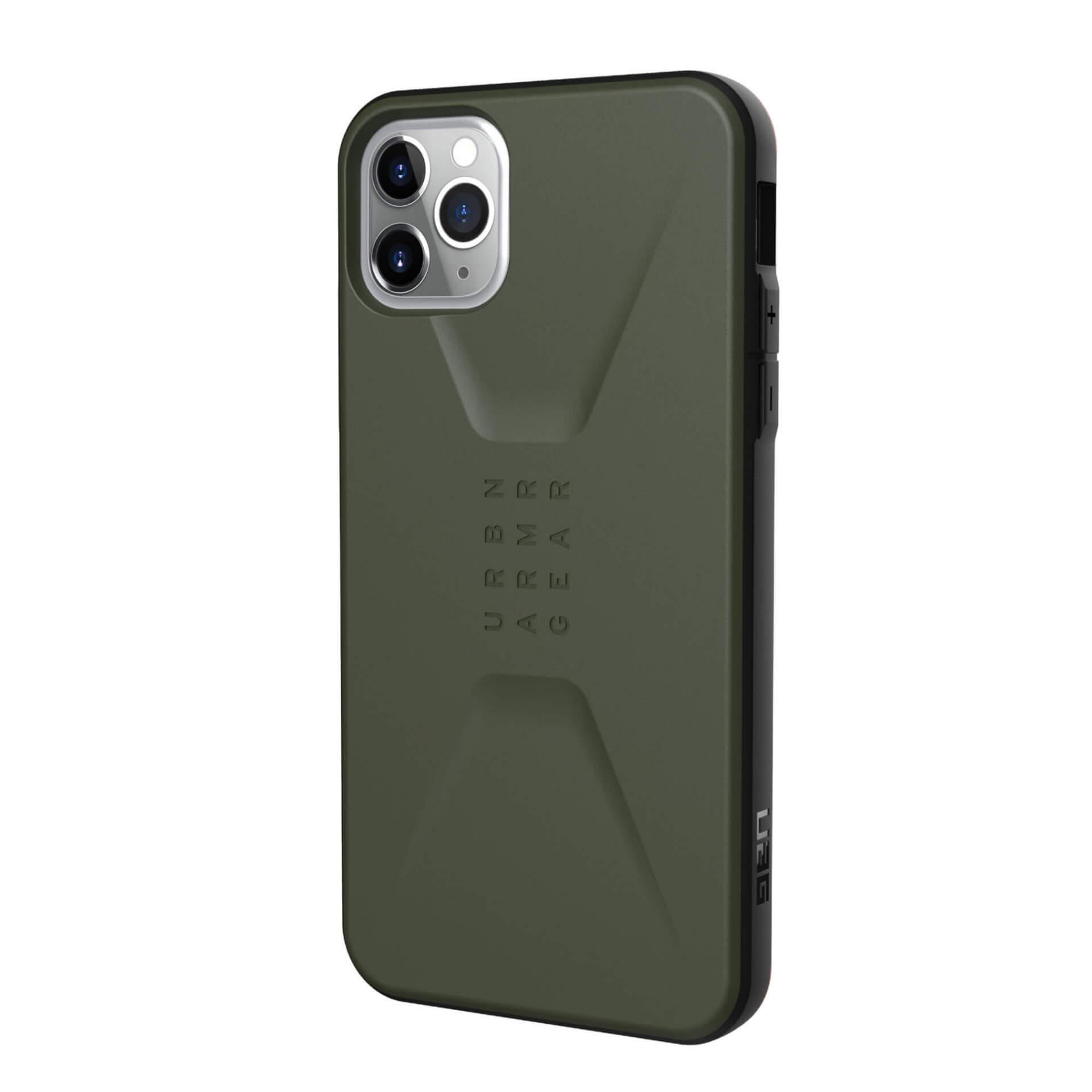 Urban Armor Gear Civilian — удароустойчив хибриден кейс за iPhone 11 Pro Max (зелен) - 2