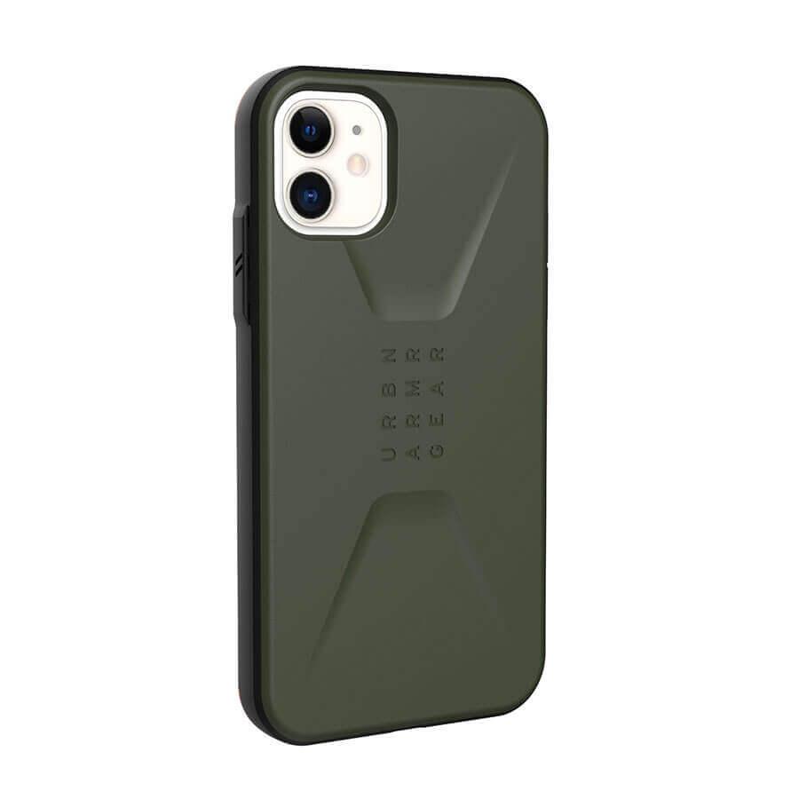 Urban Armor Gear Civilian — удароустойчив хибриден кейс за iPhone 11 (зелен) - 3