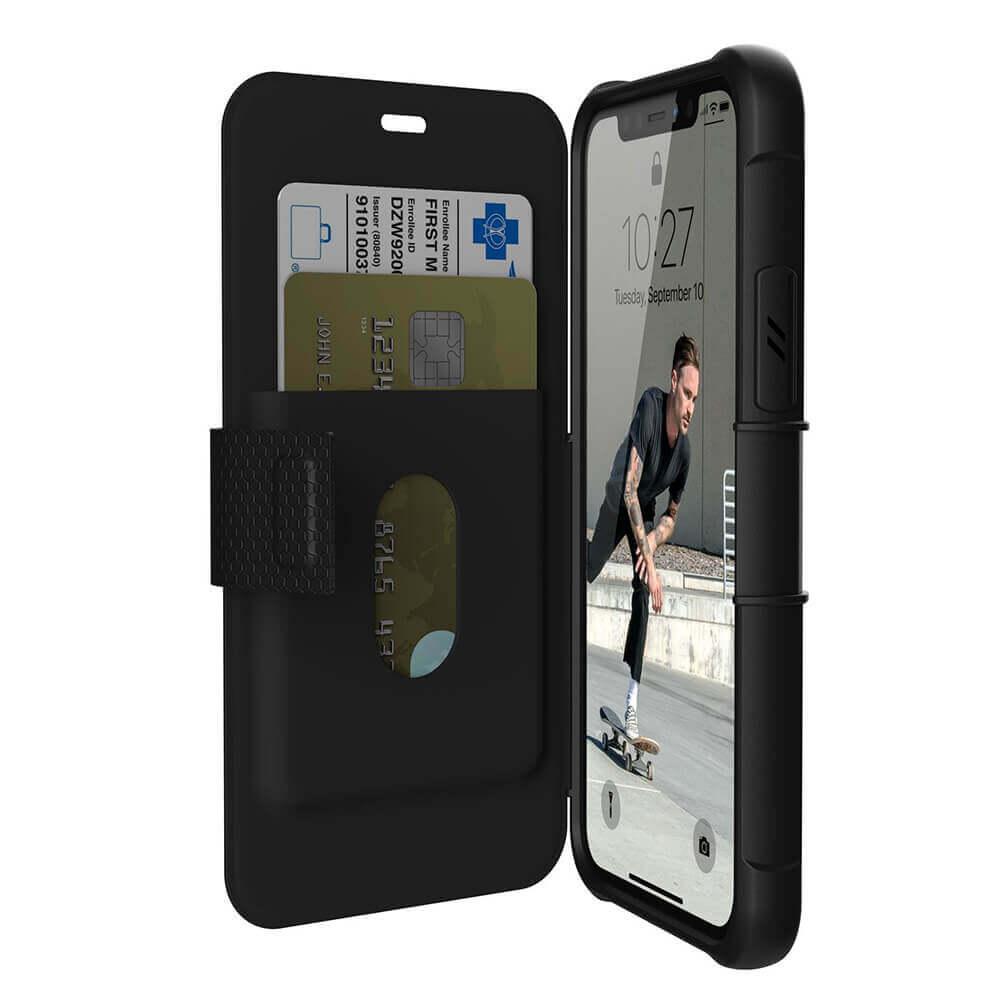 Urban Armor Gear Metropolis — удароустойчив хибриден кейс тип портфейл за iPhone 11 Pro (черен) - 3
