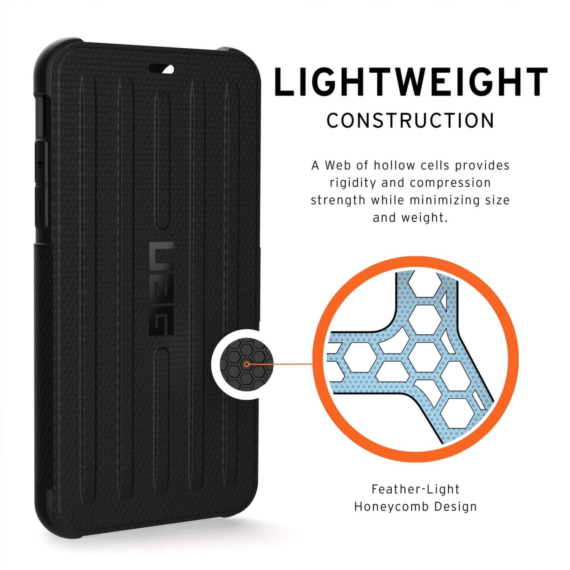 Urban Armor Gear Metropolis — удароустойчив хибриден кейс тип портфейл за iPhone 11 Pro Max (черен) - 3