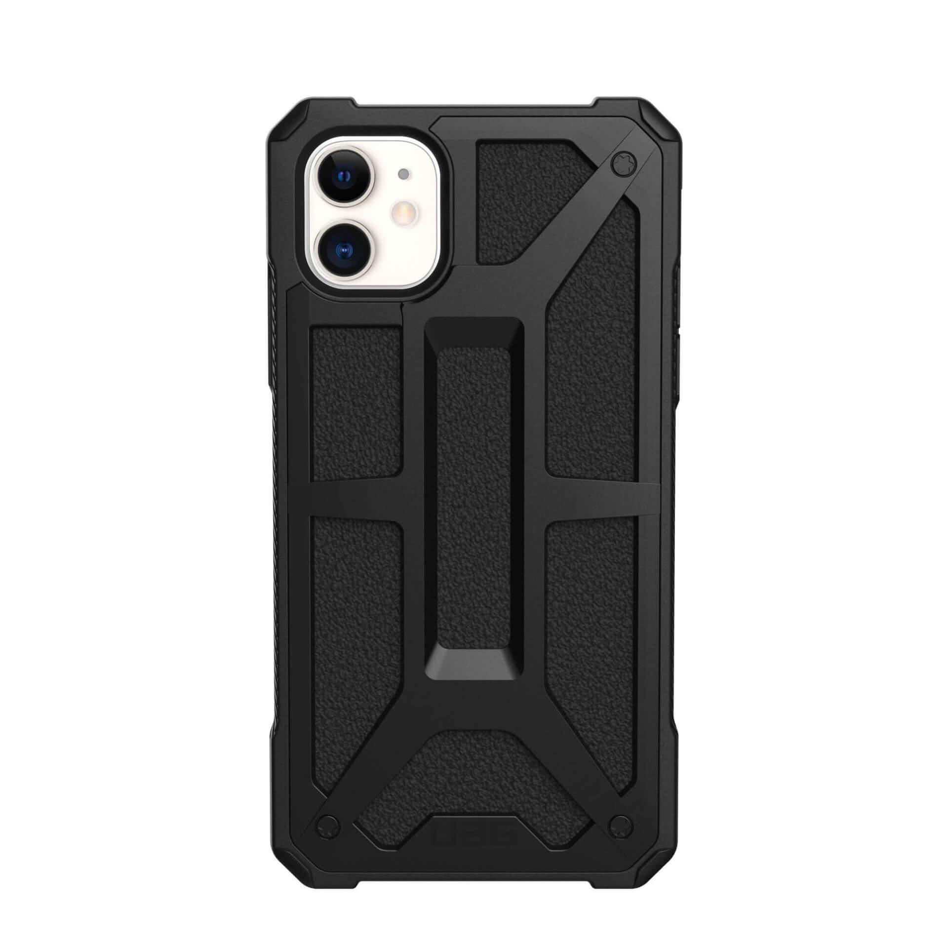 Urban Armor Gear Monarch Case — удароустойчив хибриден кейс за iPhone 11 (черен) - 4
