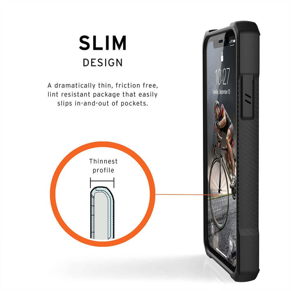 Urban Armor Gear Monarch Case — удароустойчив хибриден кейс за iPhone 11 (черен-карбон) - 4