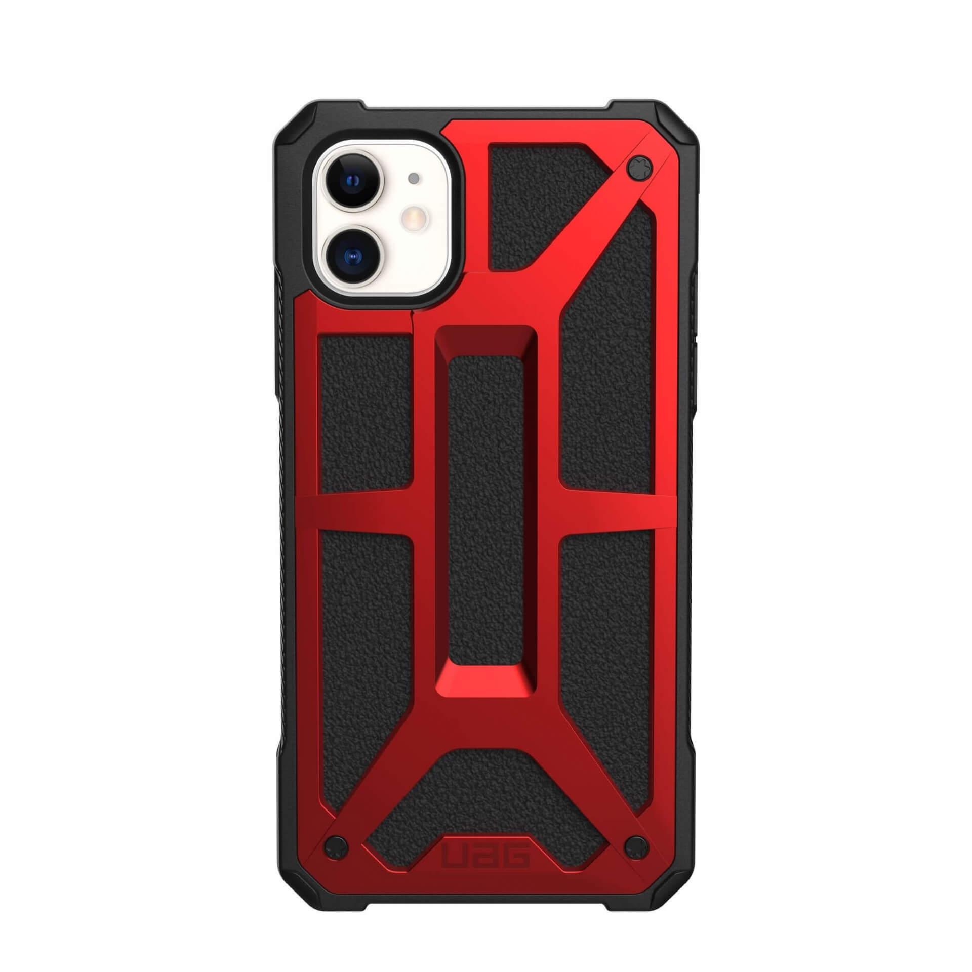 Urban Armor Gear Monarch Case — удароустойчив хибриден кейс за iPhone 11 (червен) - 2