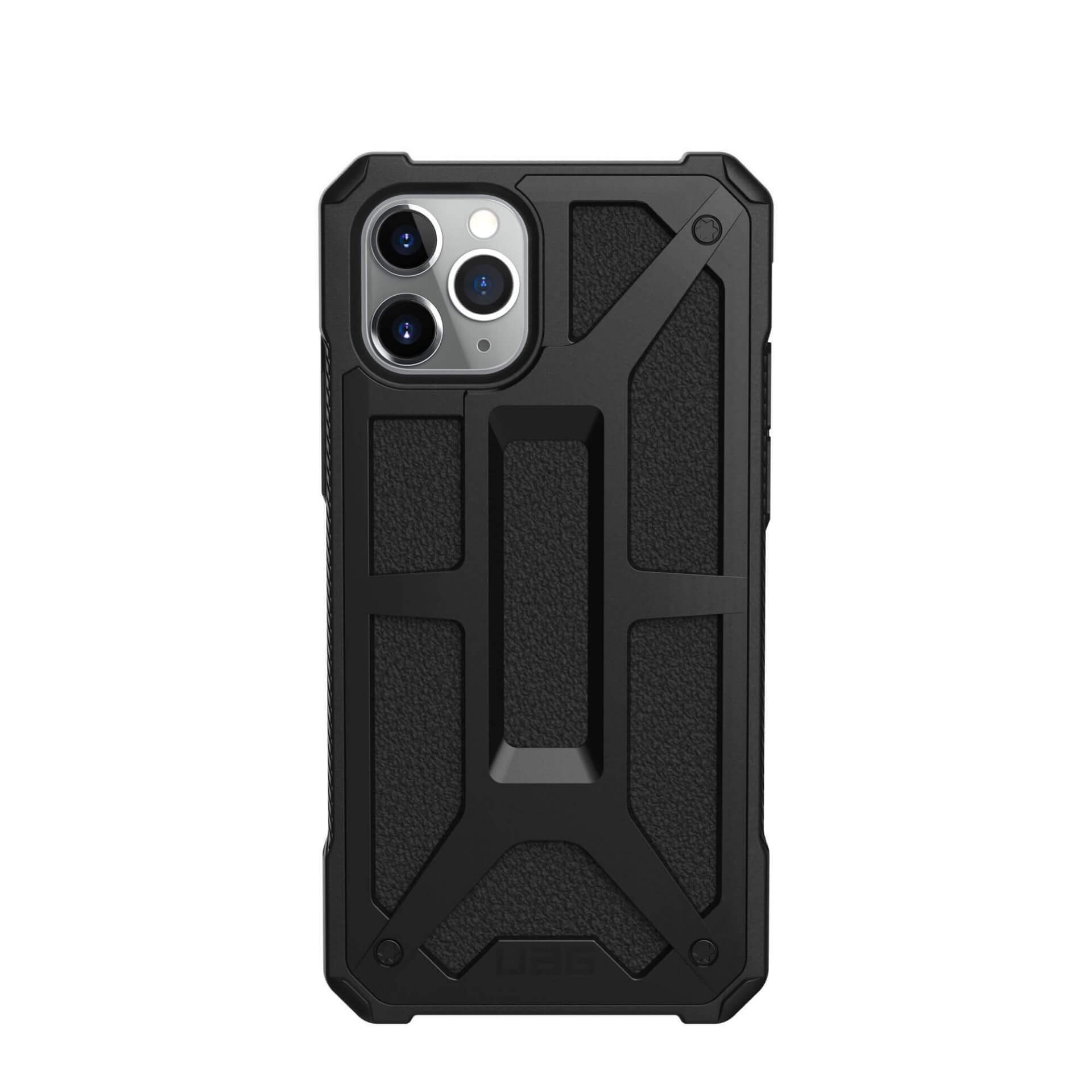 Urban Armor Gear Monarch Case — удароустойчив хибриден кейс за iPhone 11 Pro (черен) - 3