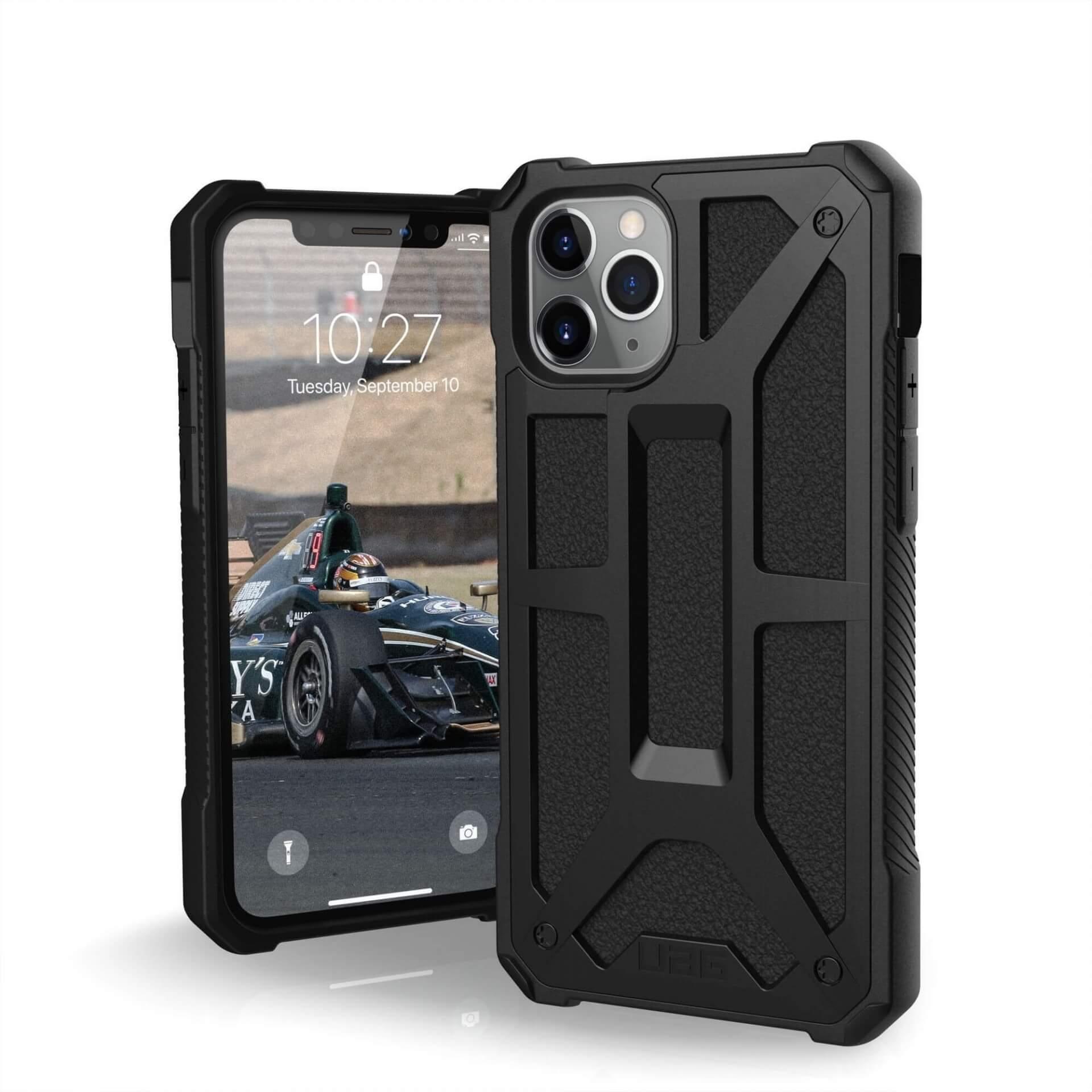 Urban Armor Gear Monarch Case — удароустойчив хибриден кейс за iPhone 11 Pro (черен) - 1