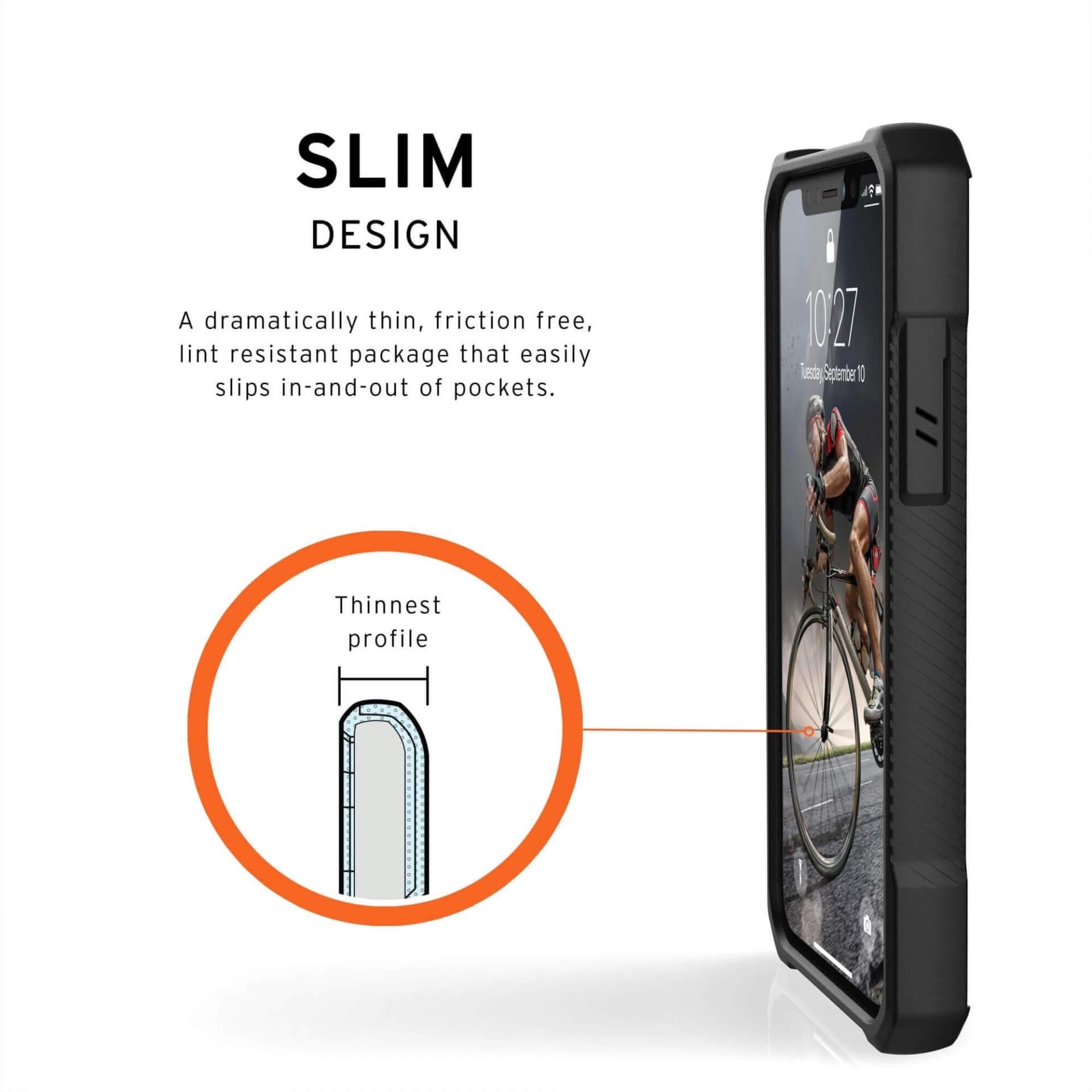 Urban Armor Gear Monarch Case — удароустойчив хибриден кейс за iPhone 11 Pro (черен-карбон) - 5