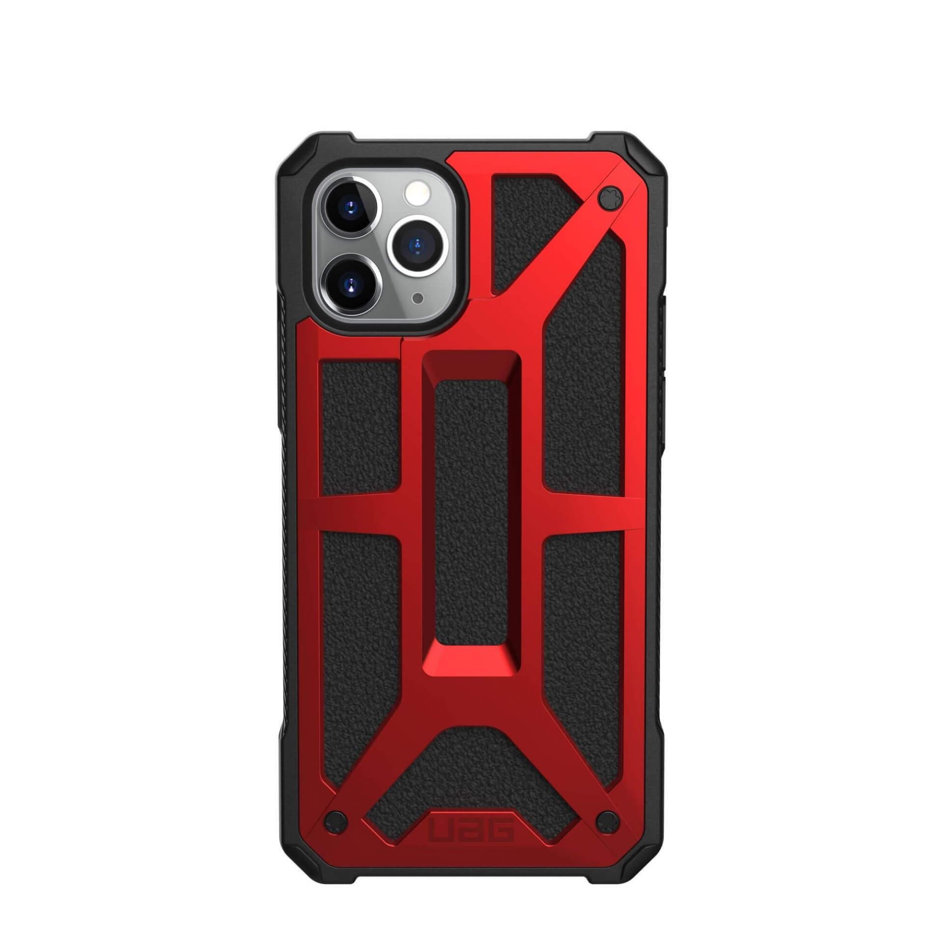 Urban Armor Gear Monarch Case — удароустойчив хибриден кейс за iPhone 11 Pro (червен) - 2