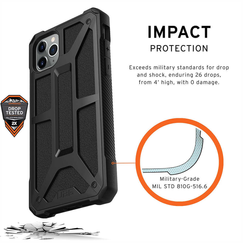 Urban Armor Gear Monarch Case — удароустойчив хибриден кейс за iPhone 11 Pro Max (черен) - 4