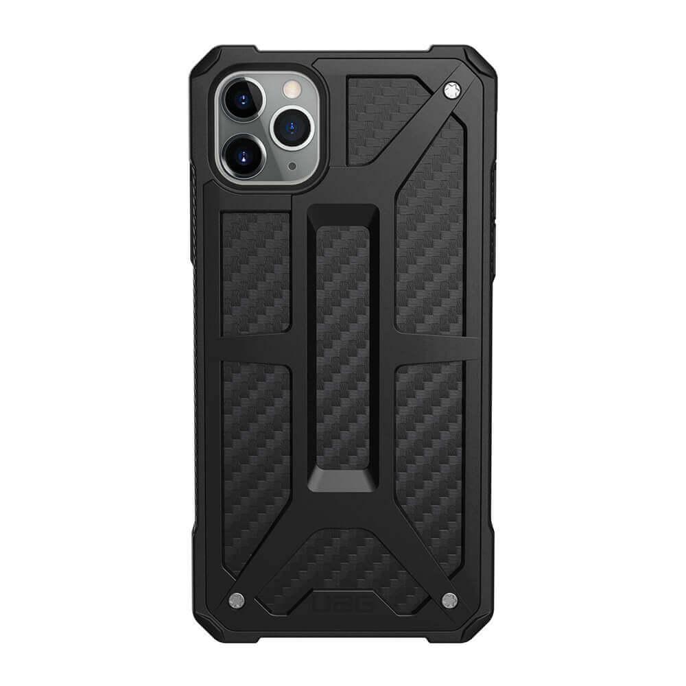 Urban Armor Gear Monarch Case — удароустойчив хибриден кейс за iPhone 11 Pro Max (черен-карбон) - 2