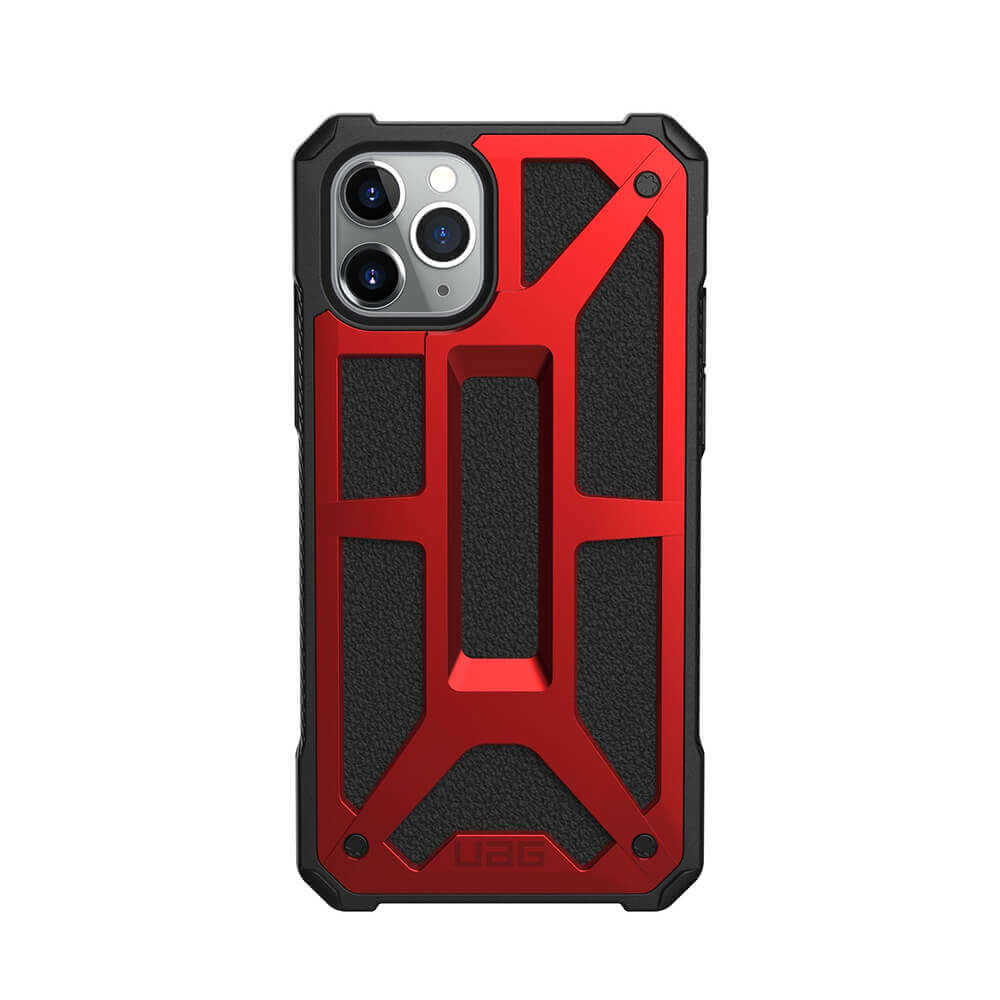 Urban Armor Gear Monarch Case — удароустойчив хибриден кейс за iPhone 11 Pro Max (червен) - 2