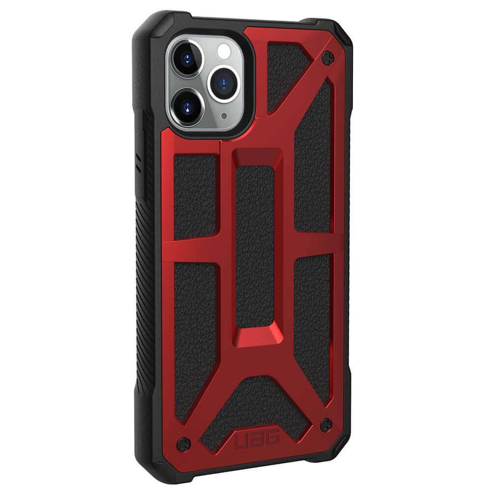 Urban Armor Gear Monarch Case — удароустойчив хибриден кейс за iPhone 11 Pro Max (червен) - 4