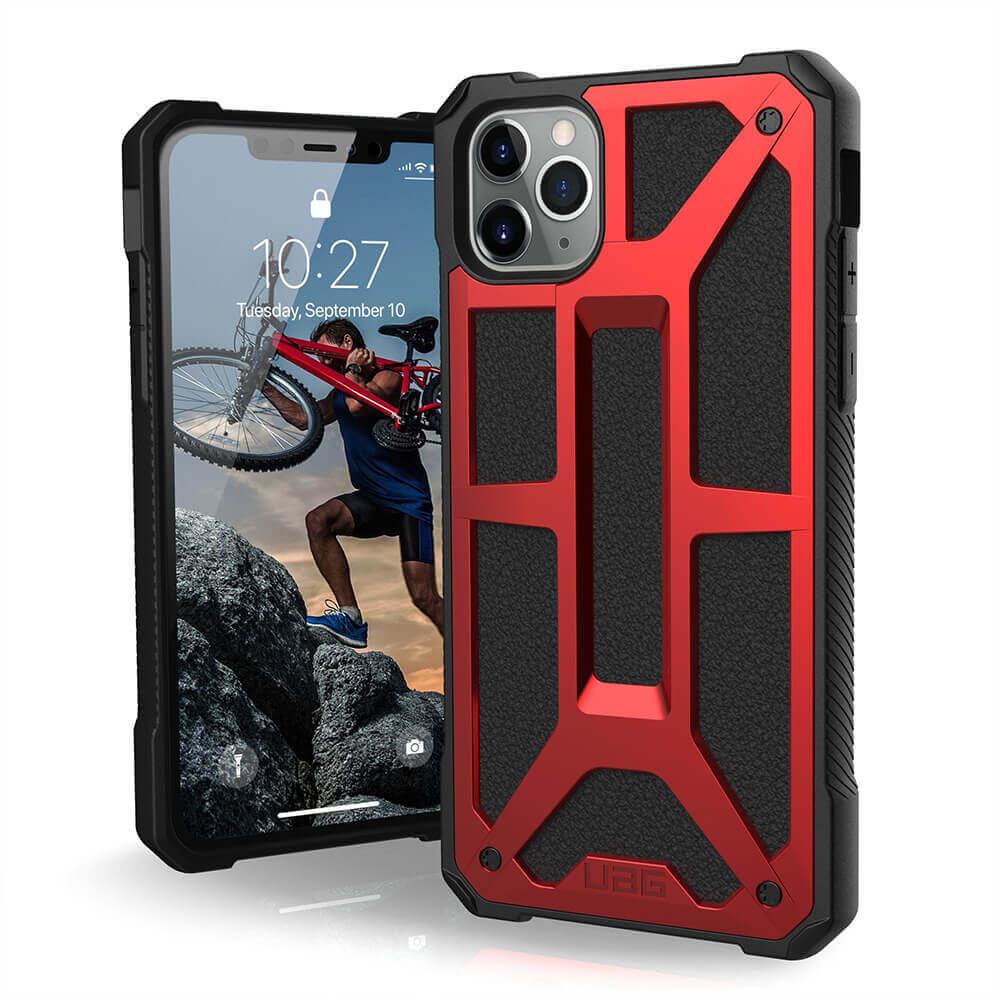 Urban Armor Gear Monarch Case — удароустойчив хибриден кейс за iPhone 11 Pro Max (червен) - 1