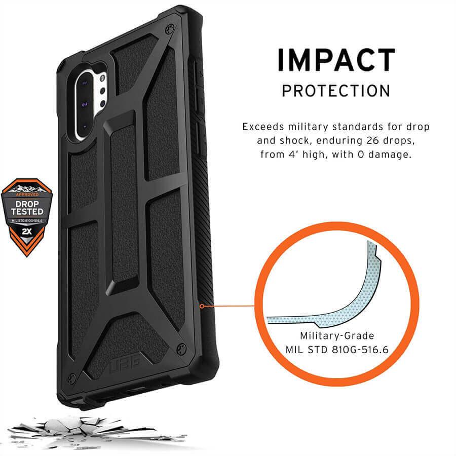Urban Armor Gear Monarch — удароустойчив хибриден кейс за Samsung Galaxy Note 10 Plus (черен) - 3
