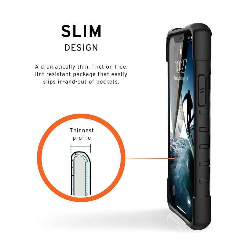 Urban Armor Gear Pathfinder Camo — удароустойчив хибриден кейс за iPhone 11 Pro (бял камуфлаж) - 4