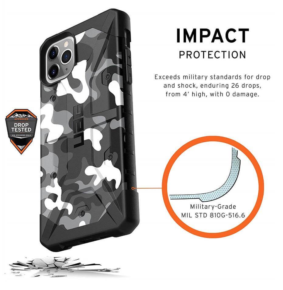 Urban Armor Gear Pathfinder Camo — удароустойчив хибриден кейс за iPhone 11 Pro Max (сив камуфлаж) - 2