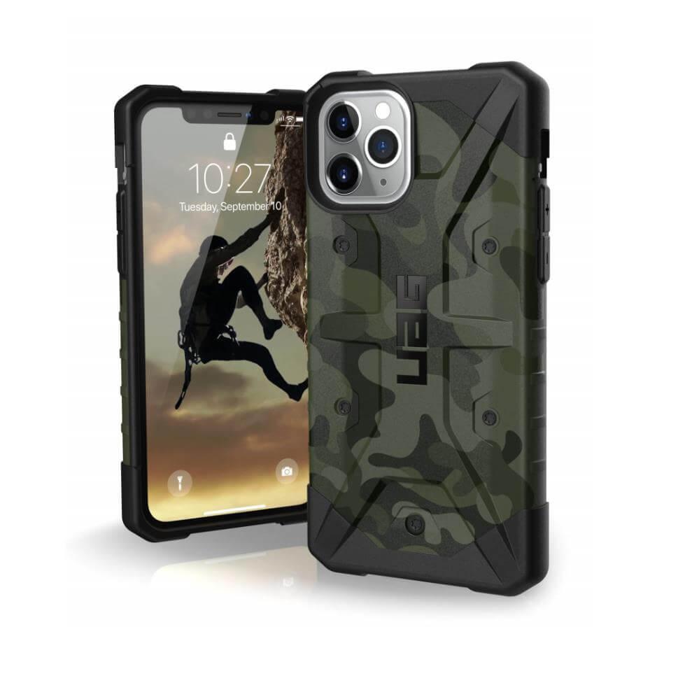 Urban Armor Gear Pathfinder Camo — удароустойчив хибриден кейс за iPhone 11 Pro Max (тъмнозелен камуфлаж) - 1