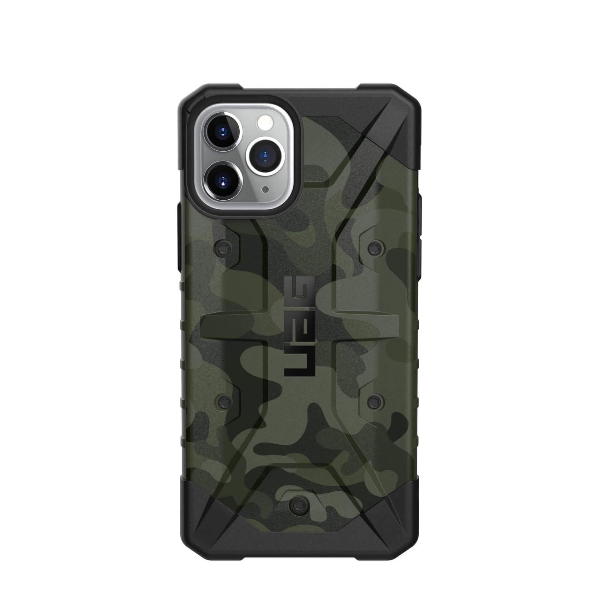 Urban Armor Gear Pathfinder Camo — удароустойчив хибриден кейс за iPhone 11 Pro Max (тъмнозелен камуфлаж) - 4