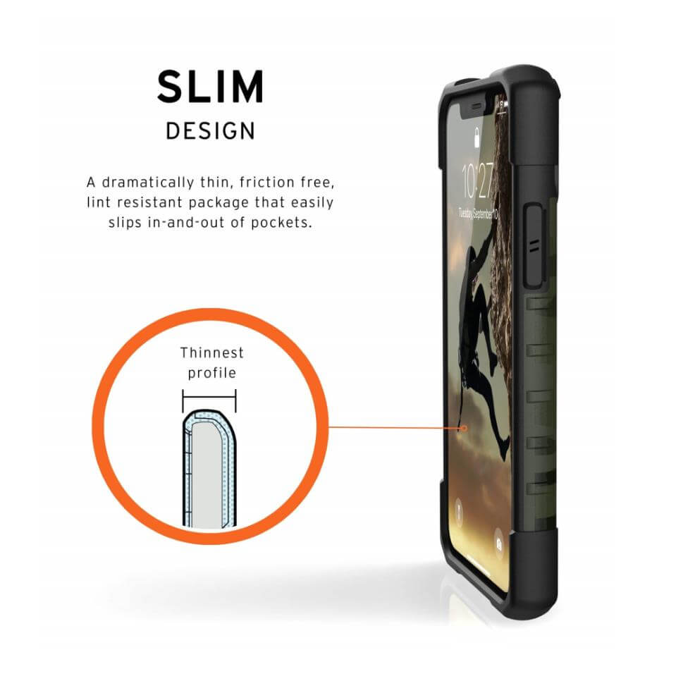 Urban Armor Gear Pathfinder Camo — удароустойчив хибриден кейс за iPhone 11 Pro Max (тъмнозелен камуфлаж) - 5