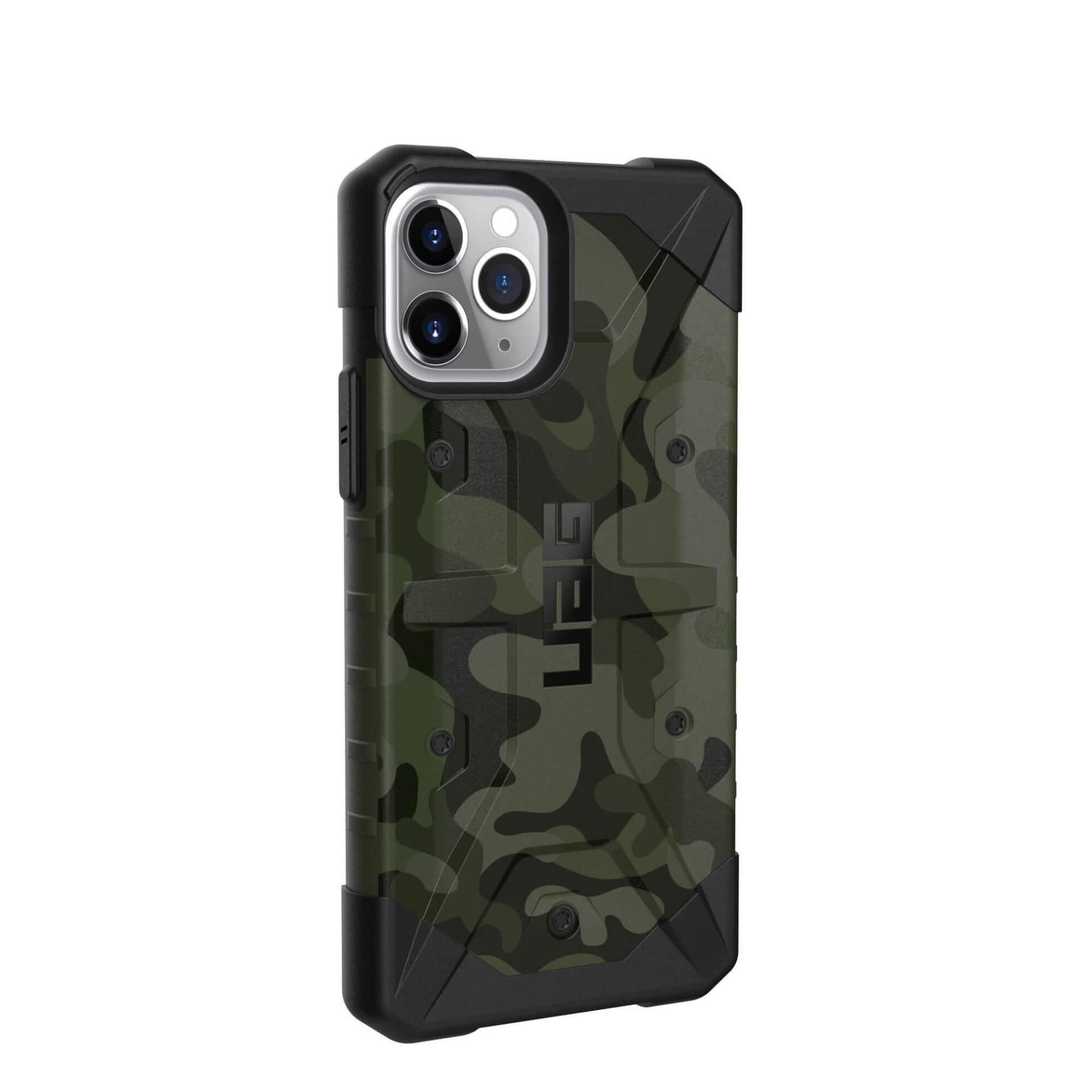 Urban Armor Gear Pathfinder Camo — удароустойчив хибриден кейс за iPhone 11 Pro (тъмнозелен камуфлаж) - 4