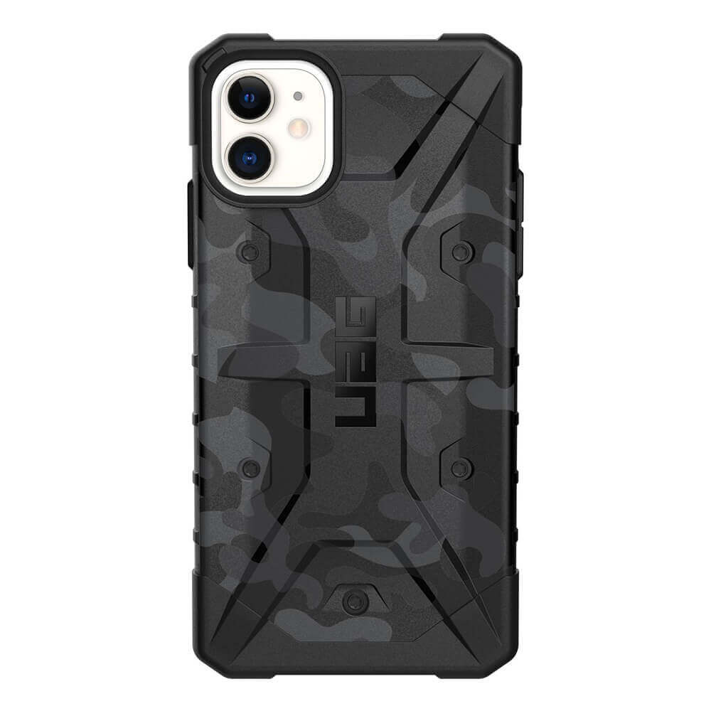 Urban Armor Gear Pathfinder Camo — удароустойчив хибриден кейс за iPhone 11 (сив камуфлаж) - 3