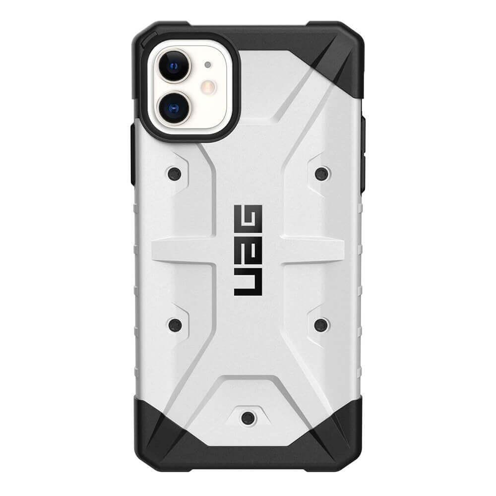 Urban Armor Gear Pathfinder — удароустойчив хибриден кейс за iPhone 11 (бял) - 2