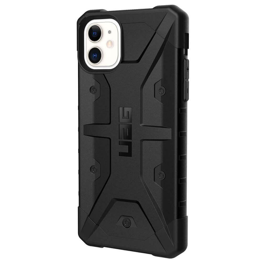 Urban Armor Gear Pathfinder — удароустойчив хибриден кейс за iPhone 11 (черен) - 2