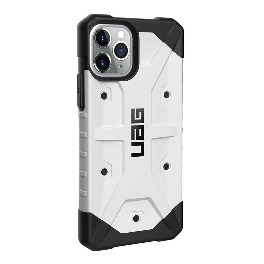Urban Armor Gear Pathfinder — удароустойчив хибриден кейс за iPhone 11 Pro (бял) - 4