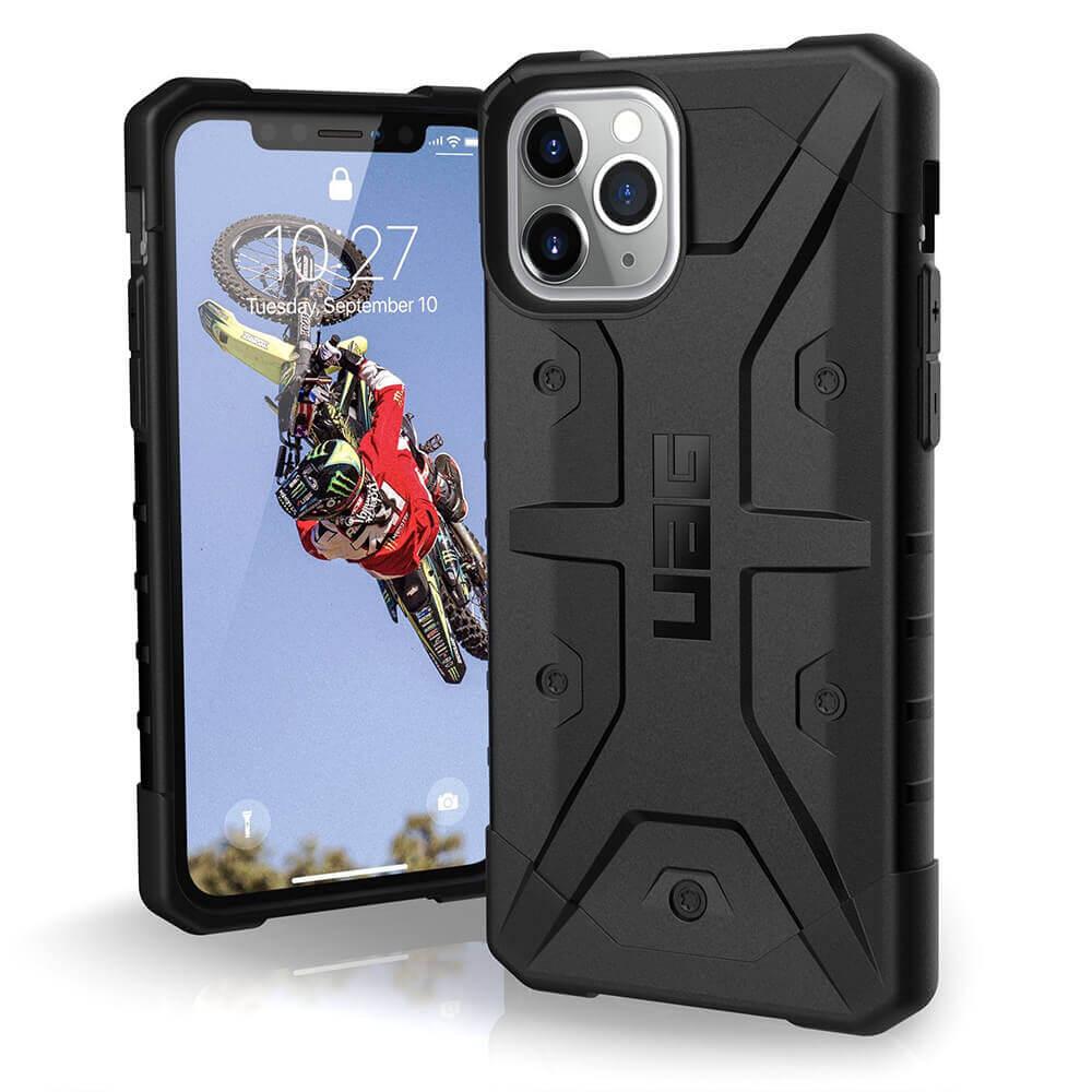 Urban Armor Gear Pathfinder — удароустойчив хибриден кейс за iPhone 11 Pro (черен) - 1