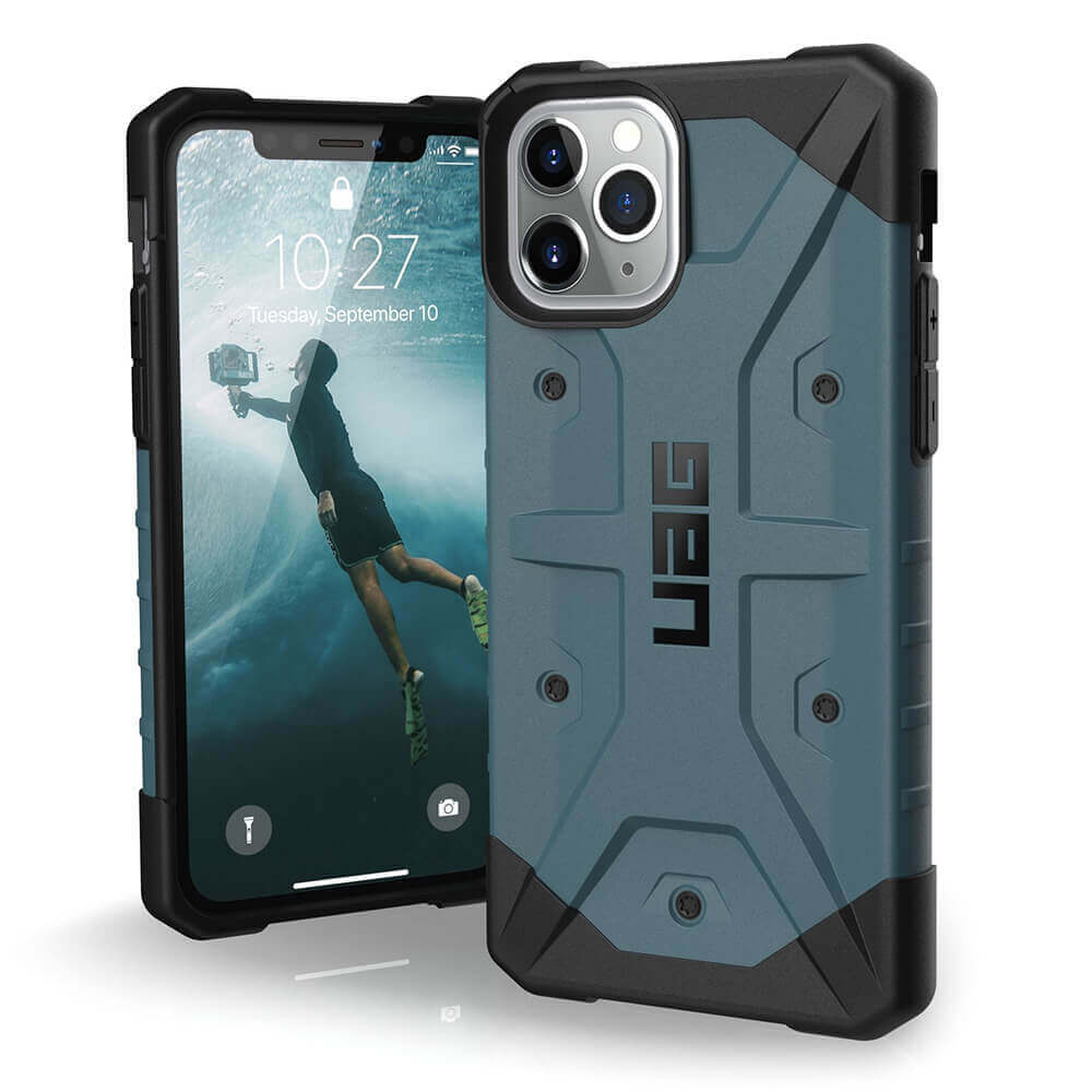 Urban Armor Gear Pathfinder — удароустойчив хибриден кейс за iPhone 11 Pro (син) - 1