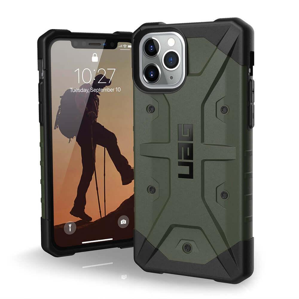 Urban Armor Gear Pathfinder — удароустойчив хибриден кейс за iPhone 11 Pro (зелен) - 1