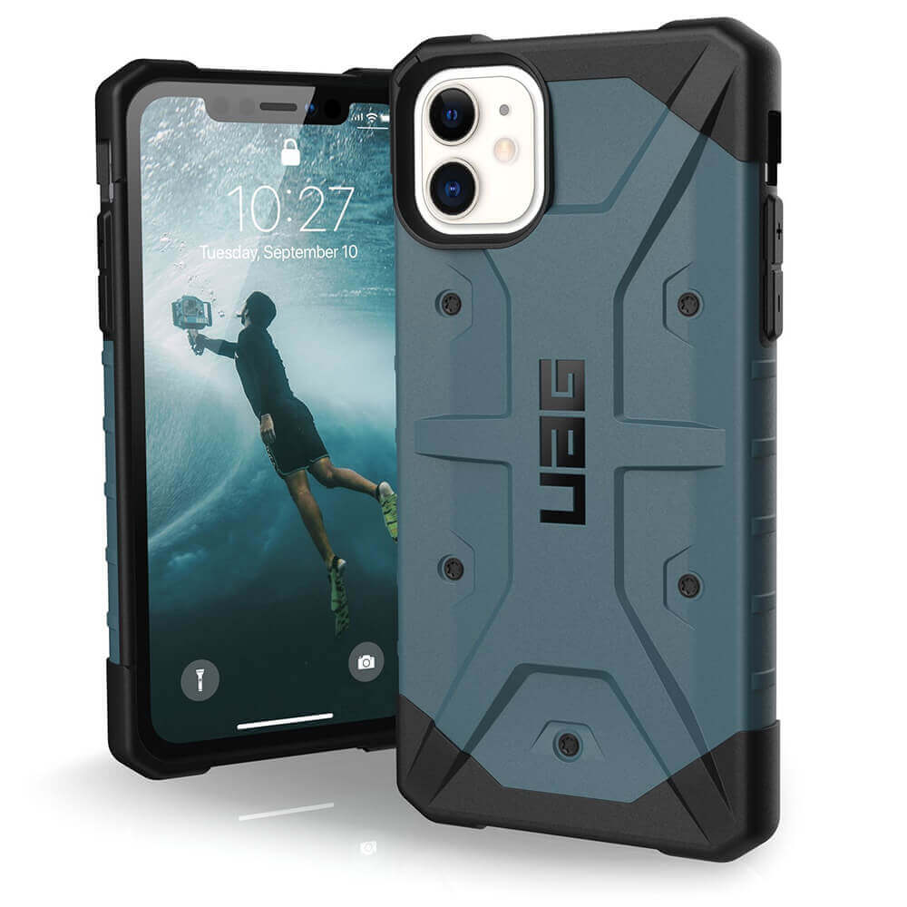 Urban Armor Gear Pathfinder — удароустойчив хибриден кейс за iPhone 11 (син) - 1