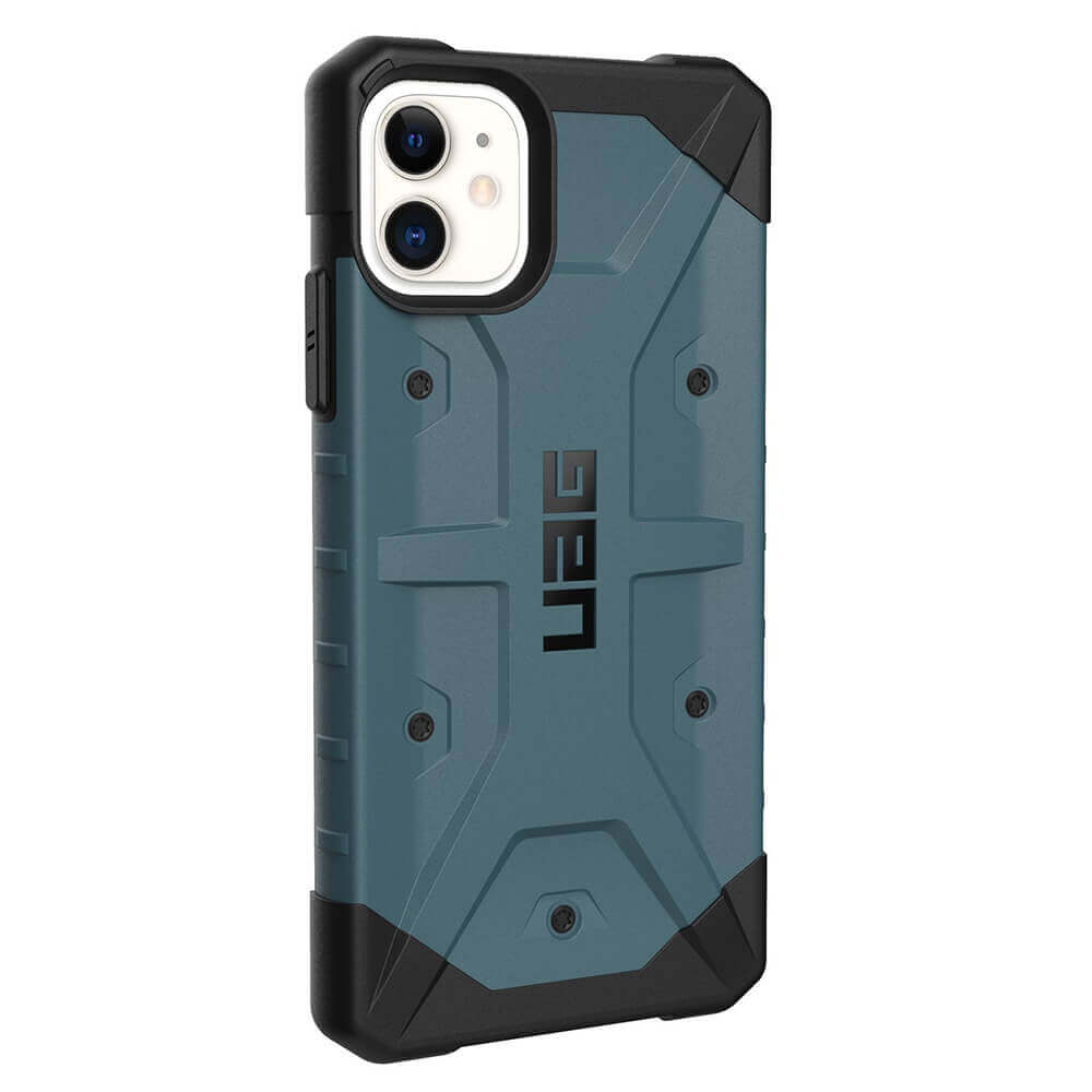 Urban Armor Gear Pathfinder — удароустойчив хибриден кейс за iPhone 11 (син) - 4