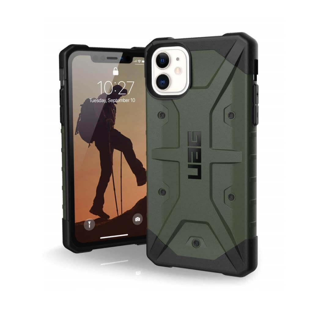Urban Armor Gear Pathfinder — удароустойчив хибриден кейс за iPhone 11 (тъмнозелен) - 1