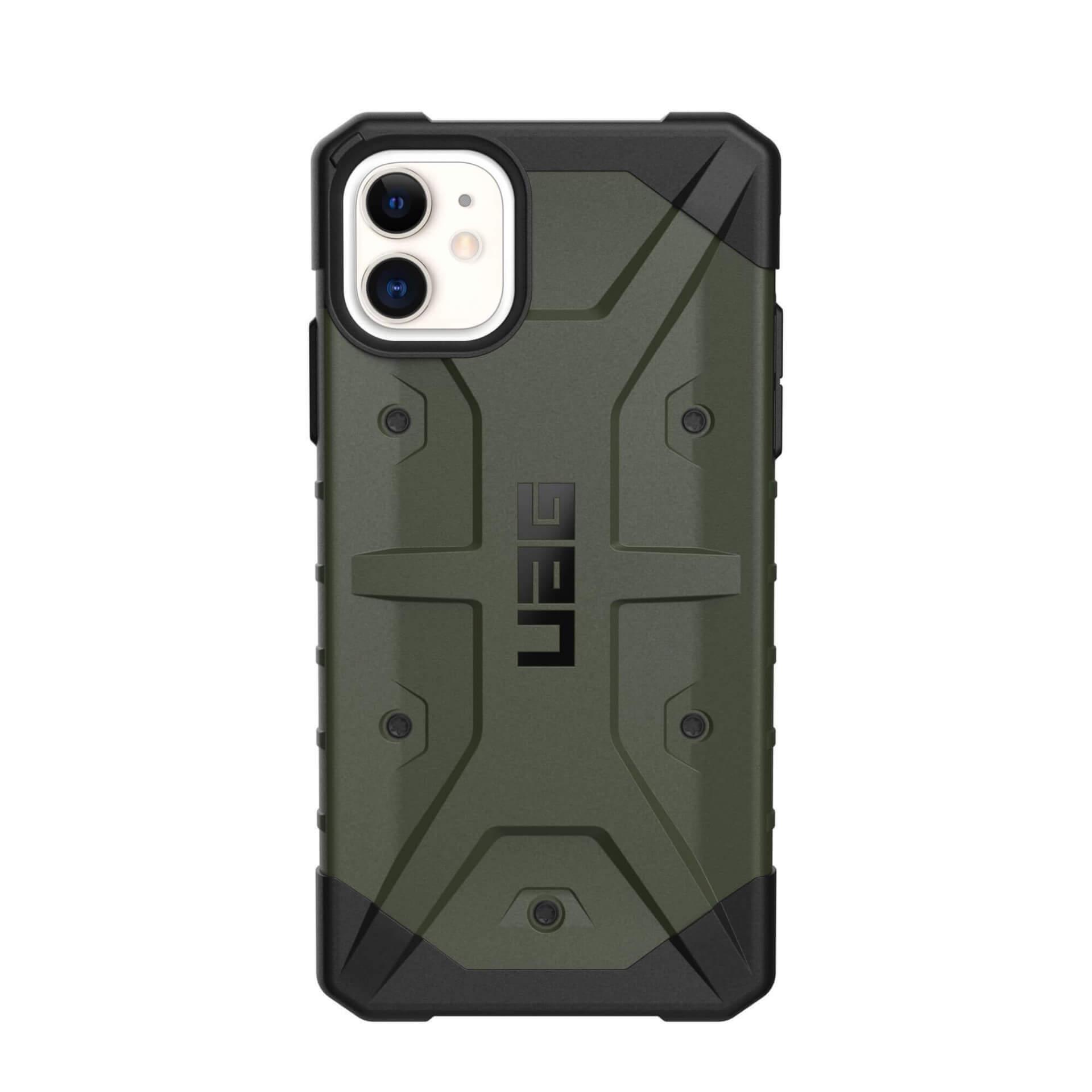 Urban Armor Gear Pathfinder — удароустойчив хибриден кейс за iPhone 11 (тъмнозелен) - 4