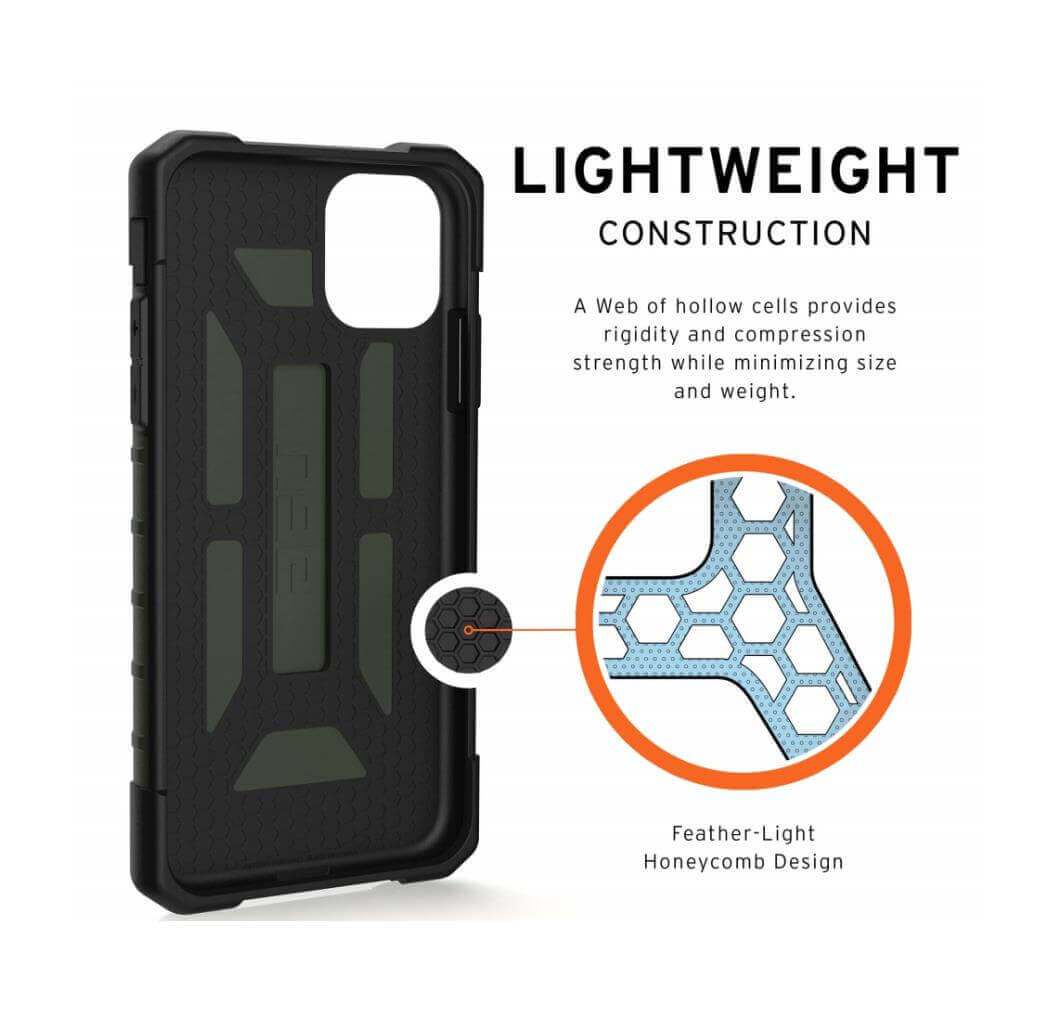 Urban Armor Gear Pathfinder — удароустойчив хибриден кейс за iPhone 11 (тъмнозелен) - 3