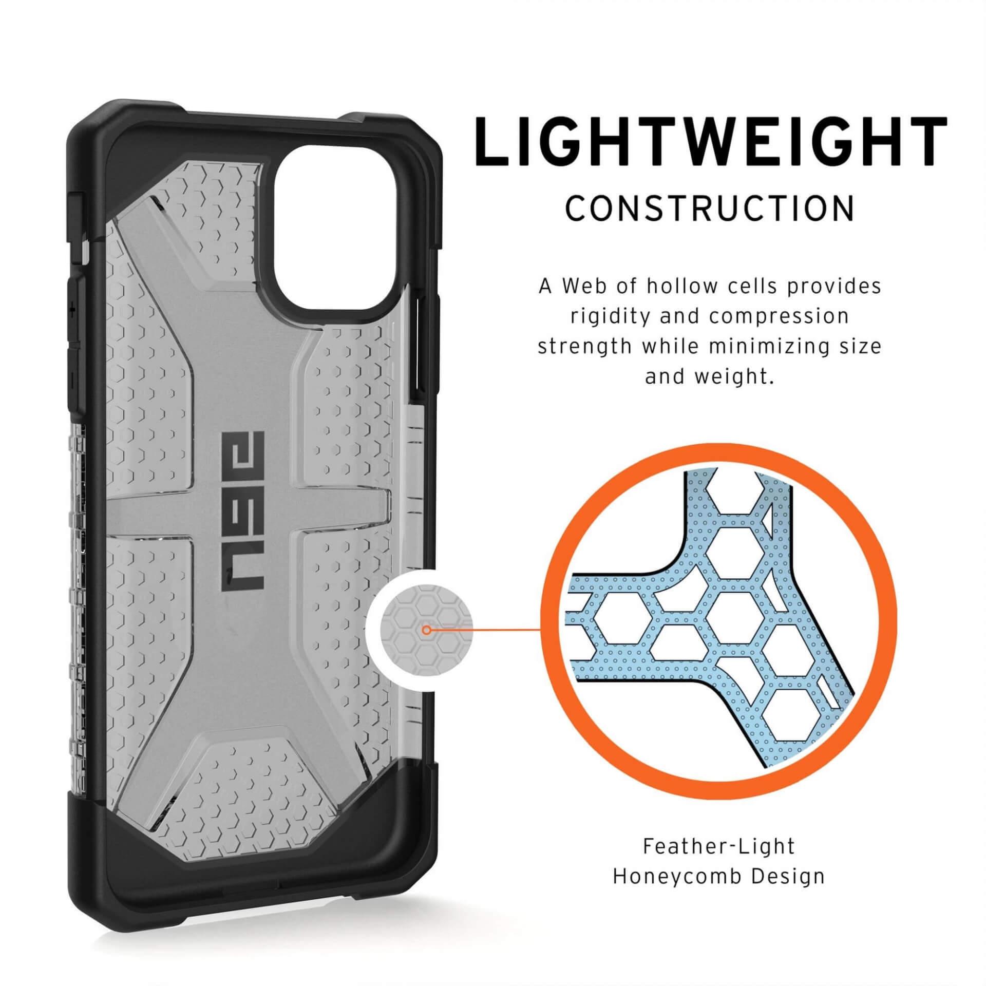 Urban Armor Gear Plasma — удароустойчив хибриден кейс за iPhone 11 (черен-прозрачен) - 2