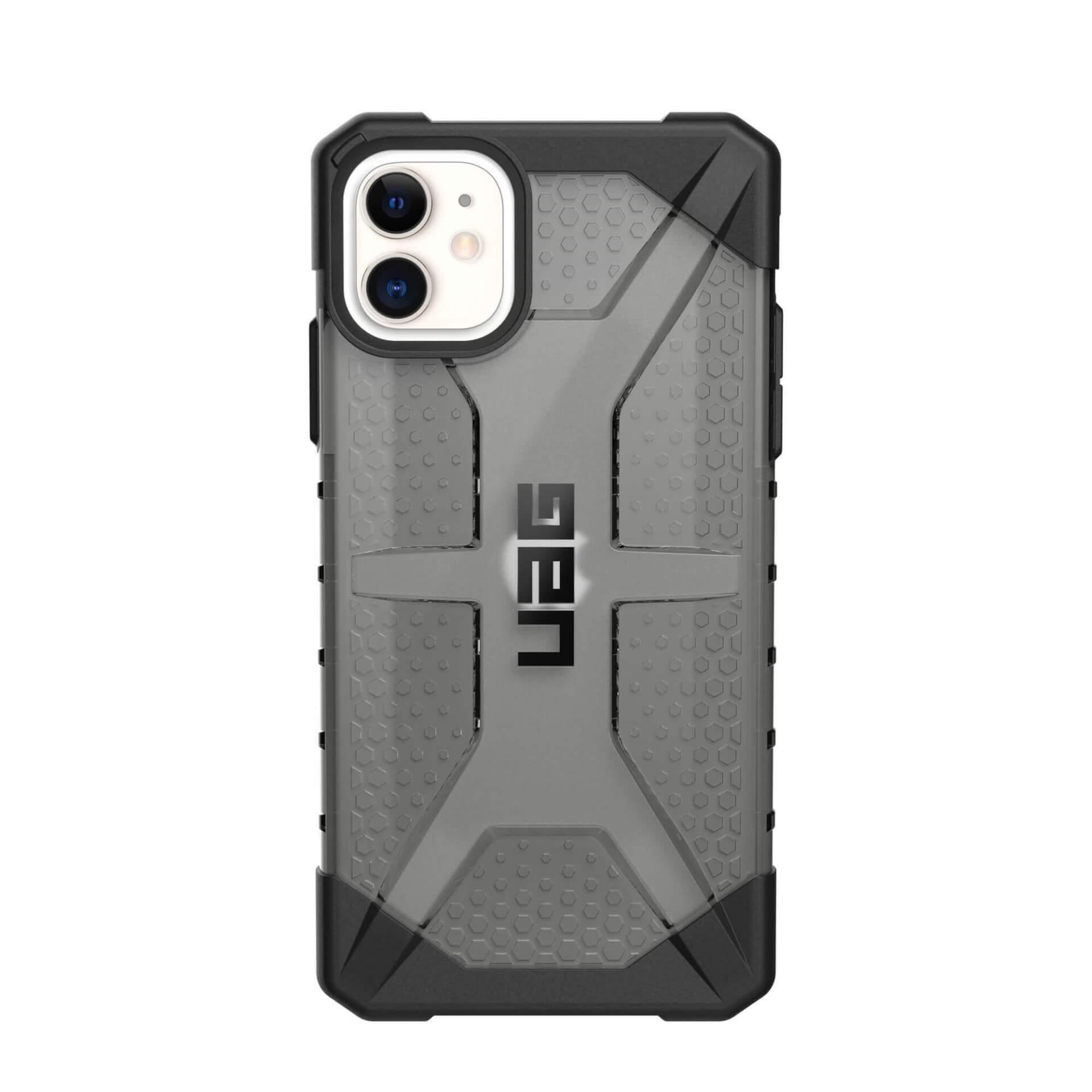 Urban Armor Gear Plasma — удароустойчив хибриден кейс за iPhone 11 (черен-прозрачен) - 4