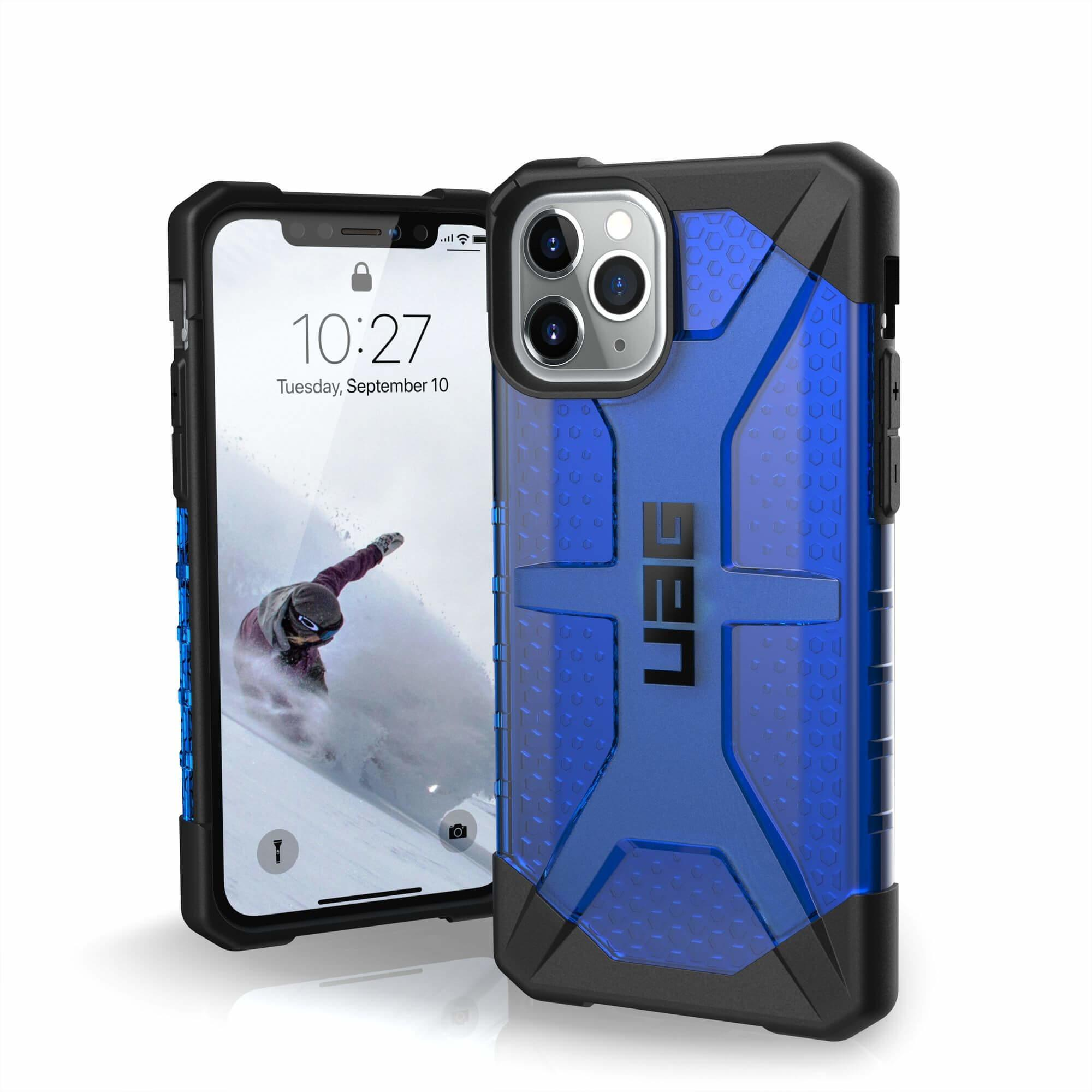 Urban Armor Gear Plasma — удароустойчив хибриден кейс за iPhone 11 Pro (син) - 1