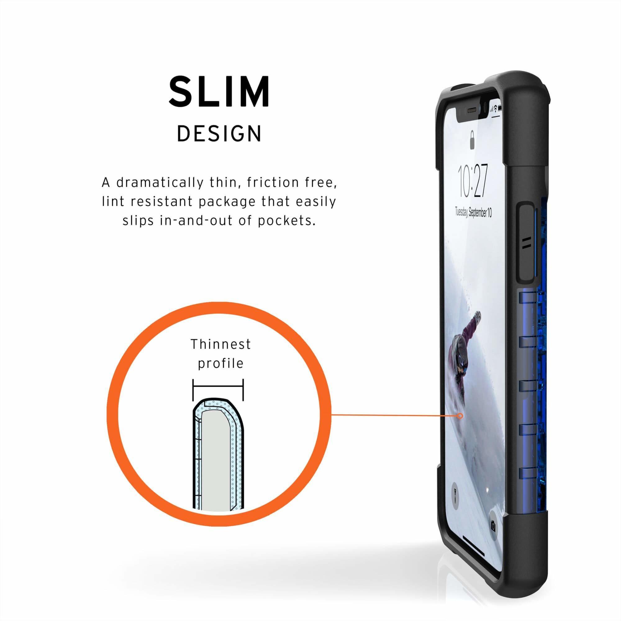 Urban Armor Gear Plasma — удароустойчив хибриден кейс за iPhone 11 Pro (син) - 5