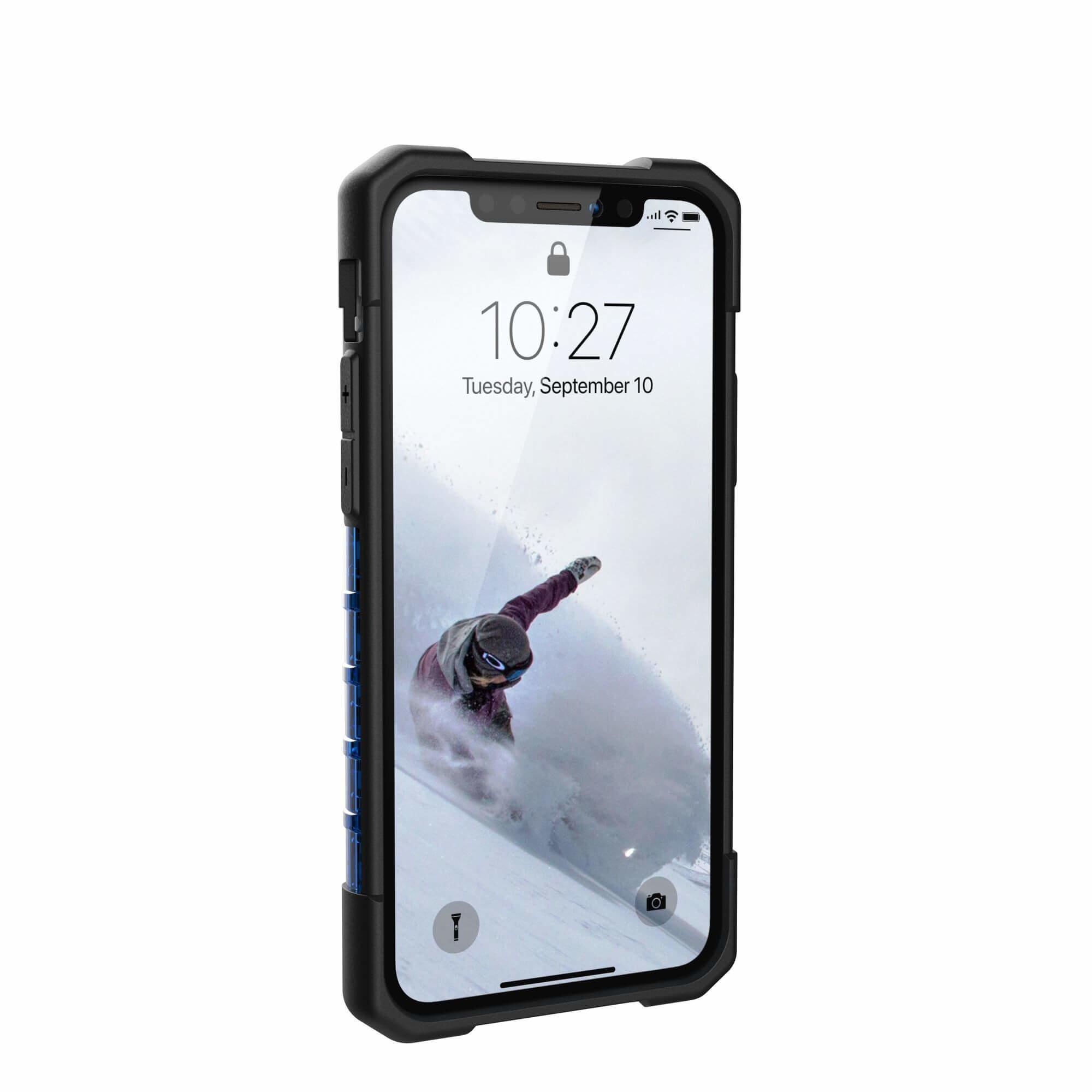 Urban Armor Gear Plasma — удароустойчив хибриден кейс за iPhone 11 Pro (син) - 4