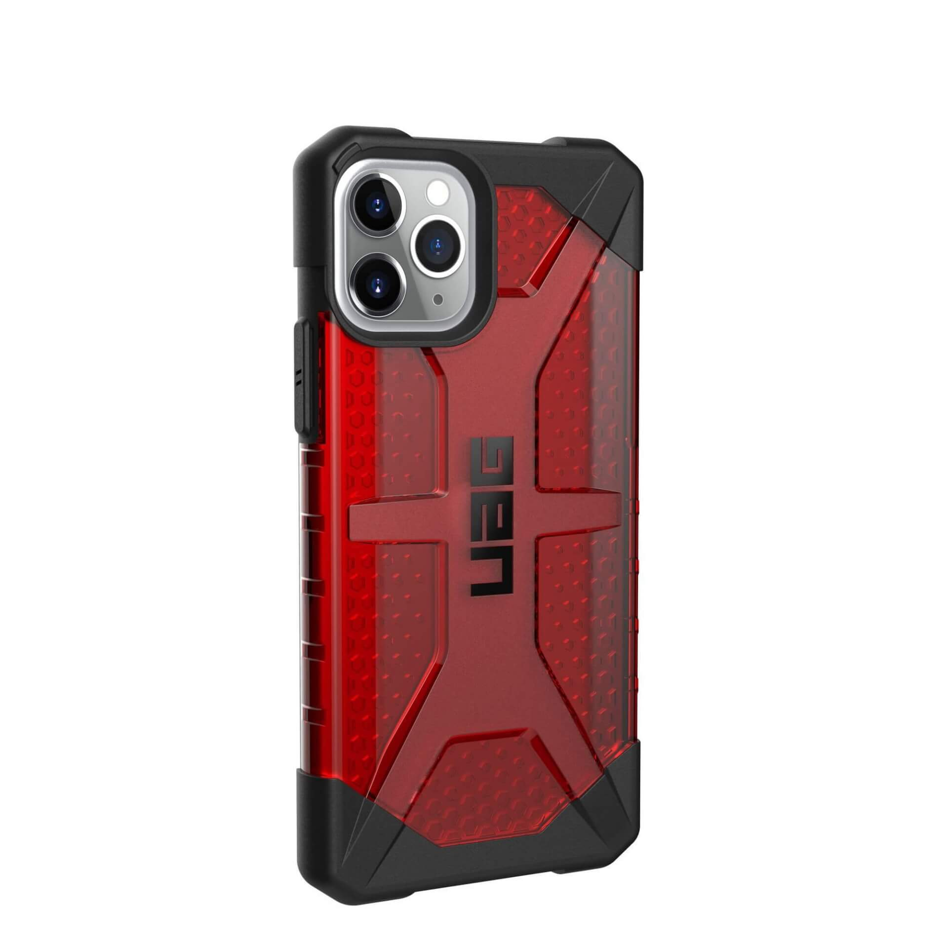 Urban Armor Gear Plasma — удароустойчив хибриден кейс за iPhone 11 Pro (червен) - 3