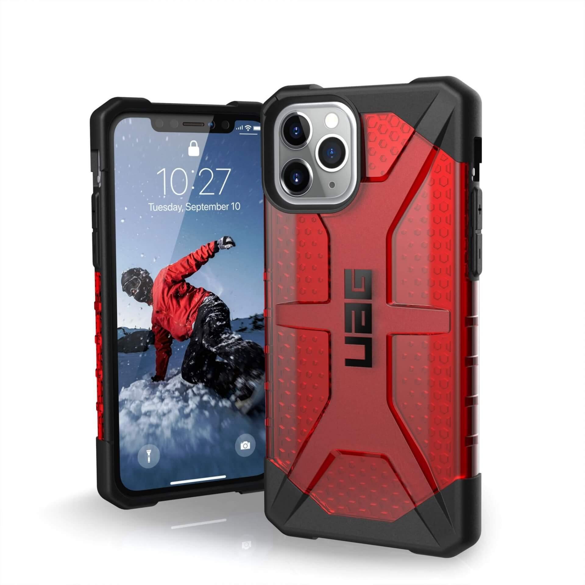 Urban Armor Gear Plasma — удароустойчив хибриден кейс за iPhone 11 Pro (червен) - 1