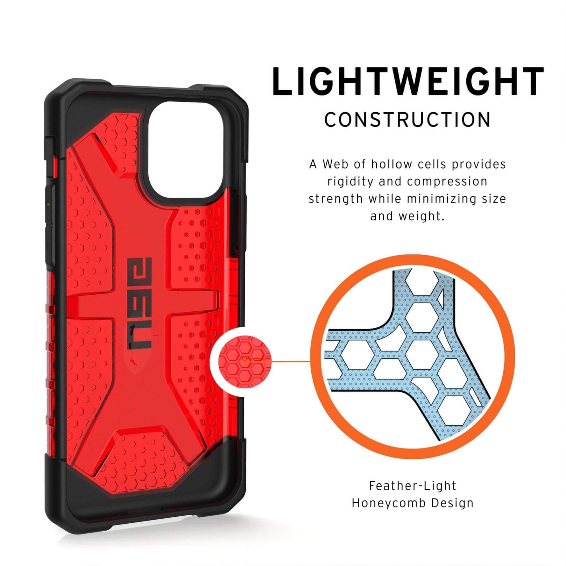Urban Armor Gear Plasma — удароустойчив хибриден кейс за iPhone 11 Pro (червен) - 4